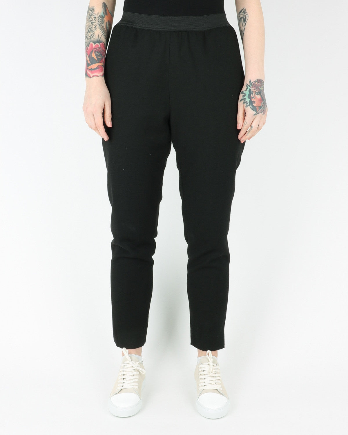 whyred_blue el wool lining pants_black_view_1_2