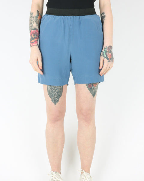 whyred_blue elastic silk shorts_milk blue_view_1_2