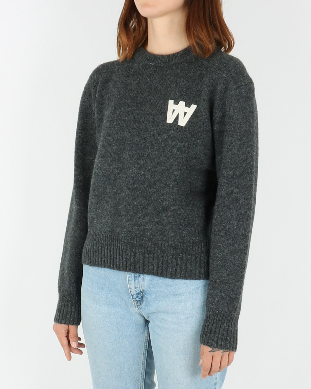 wood wood_anneli sweater_dark grey melange_view_2_3