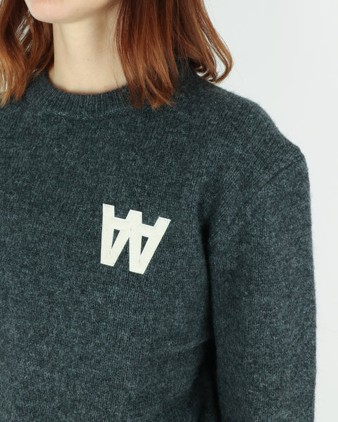wood wood_anneli sweater_dark grey melange_view_3_3