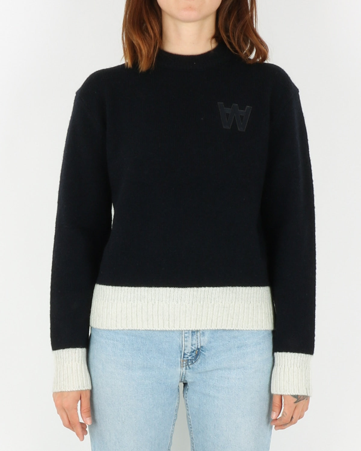 wood wood_anneli sweater_navy_view_1_3