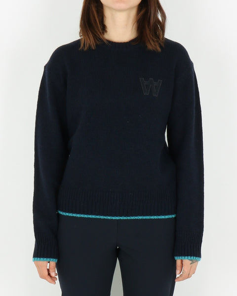 wood wood_anneli sweater_navy_view_1_4