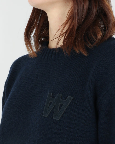 wood wood_anneli sweater_navy_view_3_4