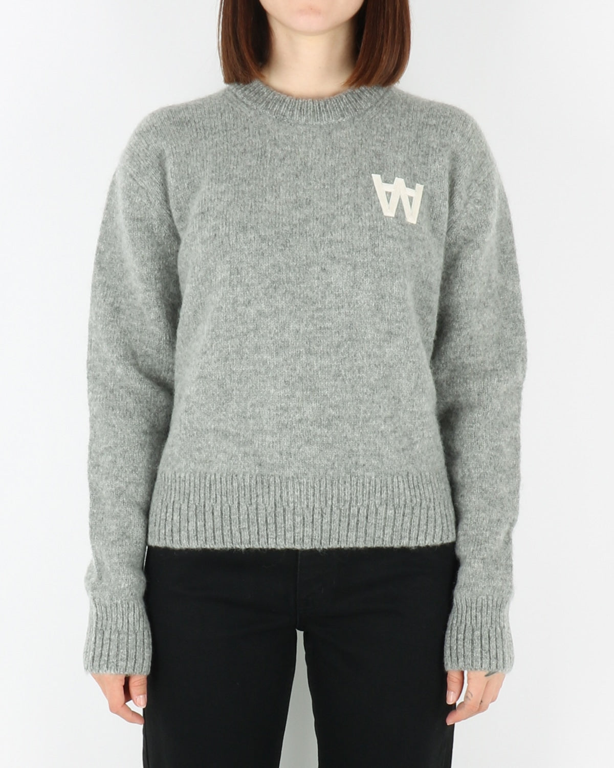 wood wood_anneli_sweatshirt_grey melange_view_1_3