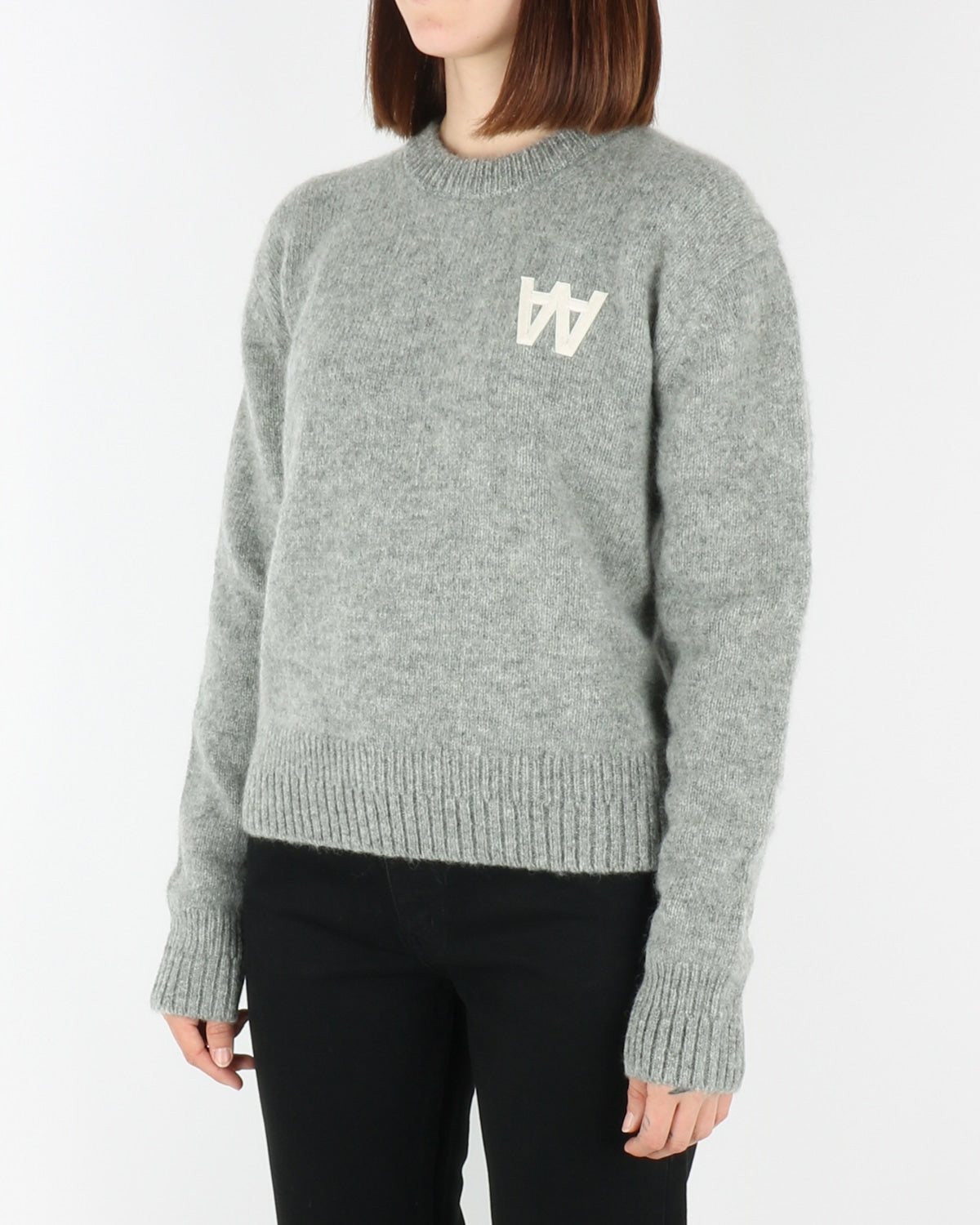wood wood_anneli_sweatshirt_grey melange_view_2_3