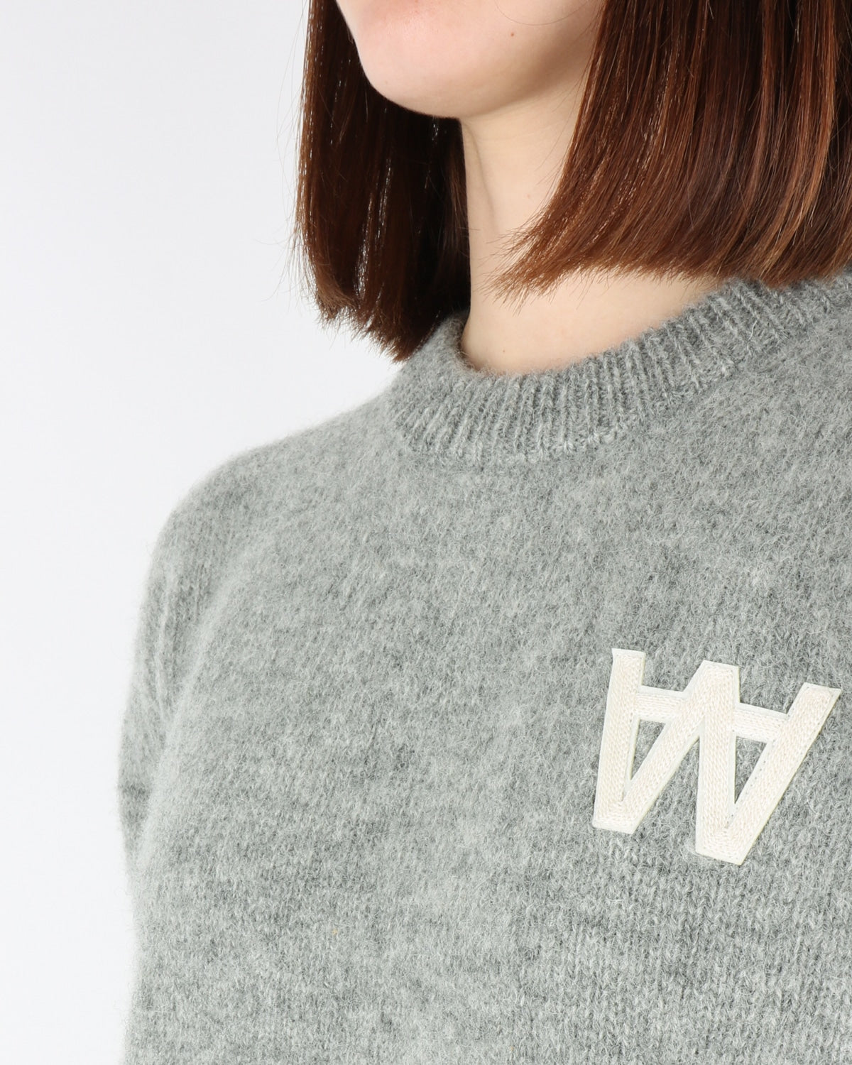 wood wood_anneli_sweatshirt_grey melange_view_3_3