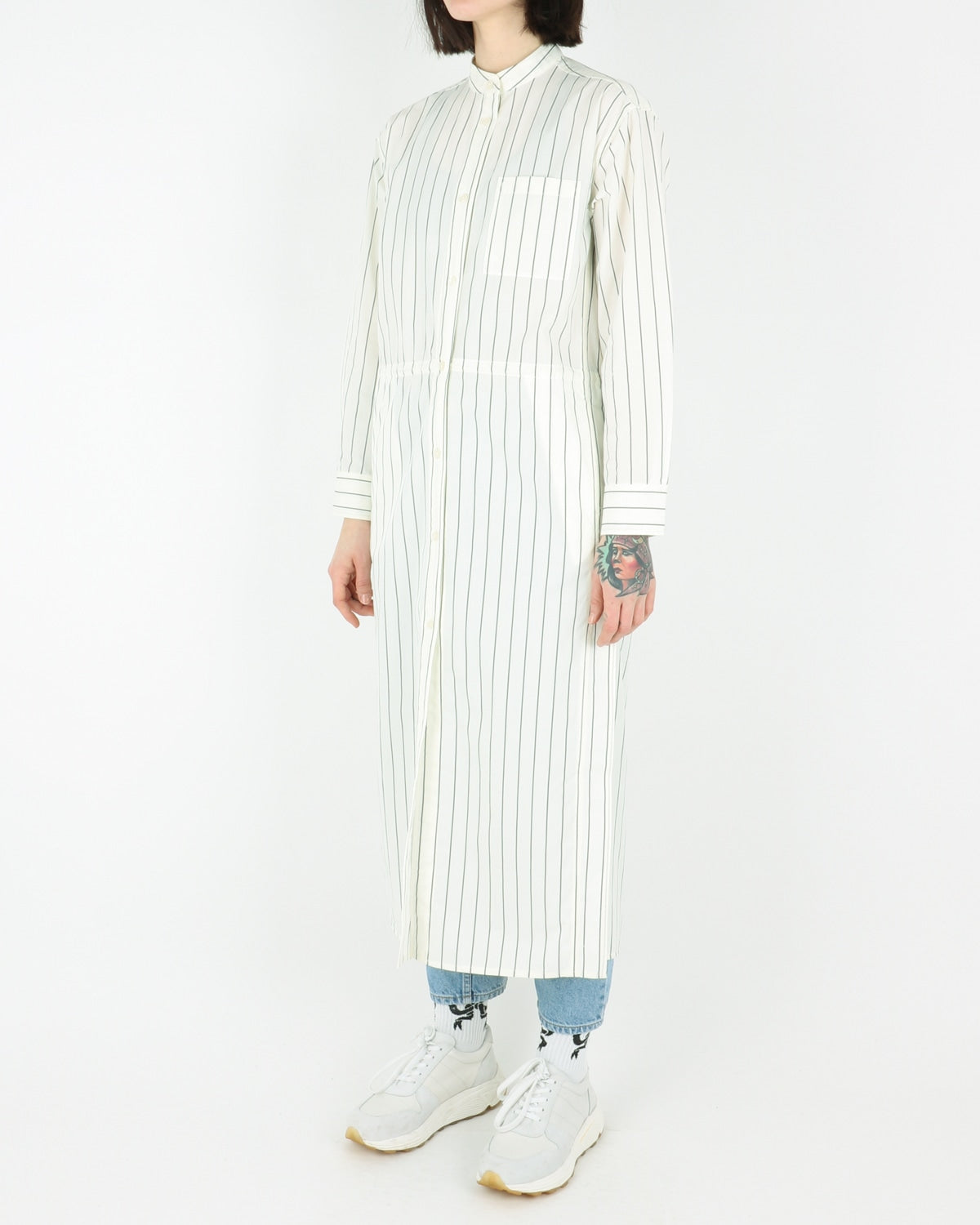wood wood_cornelia dress_offwhite pinstripes_view_2_3