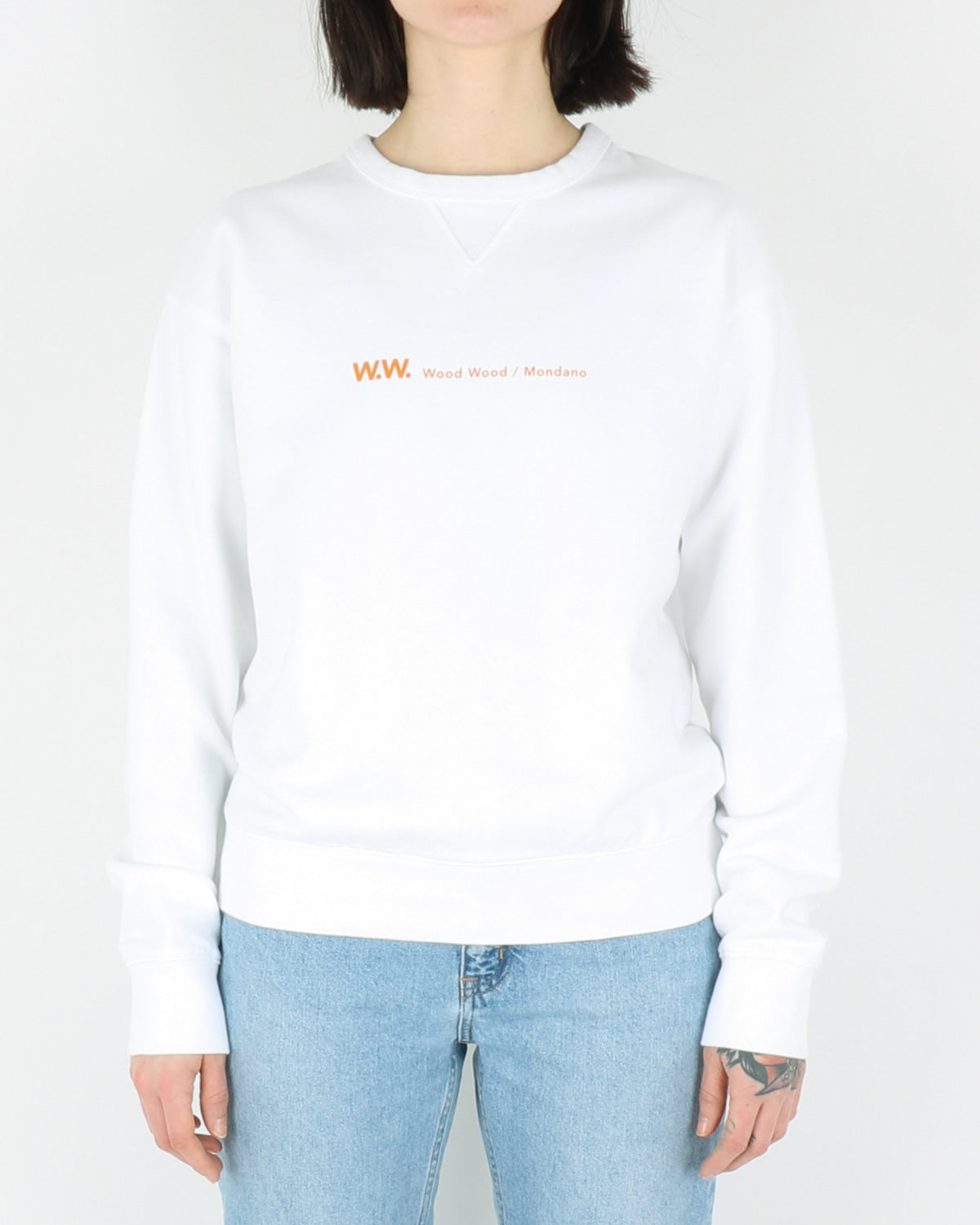 wood wood_flora sweatshirt_bright white_view_1_3