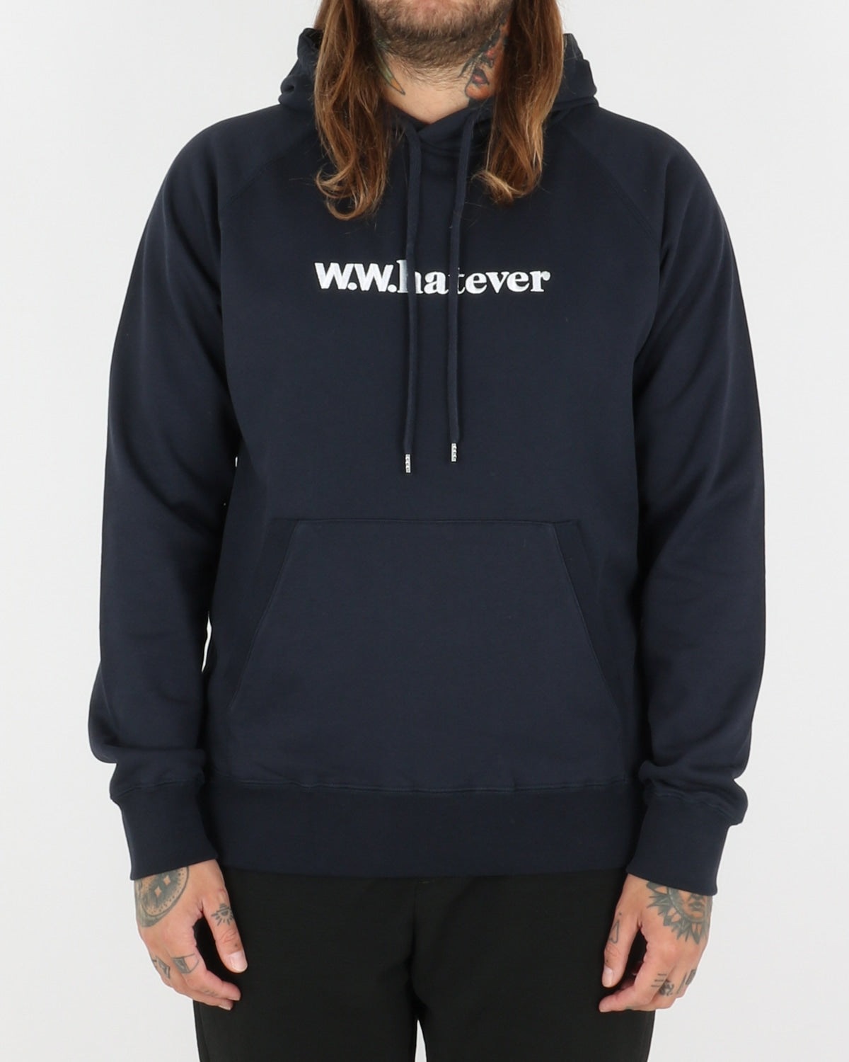 wood wood_fred hoodie_navy_view_1_3