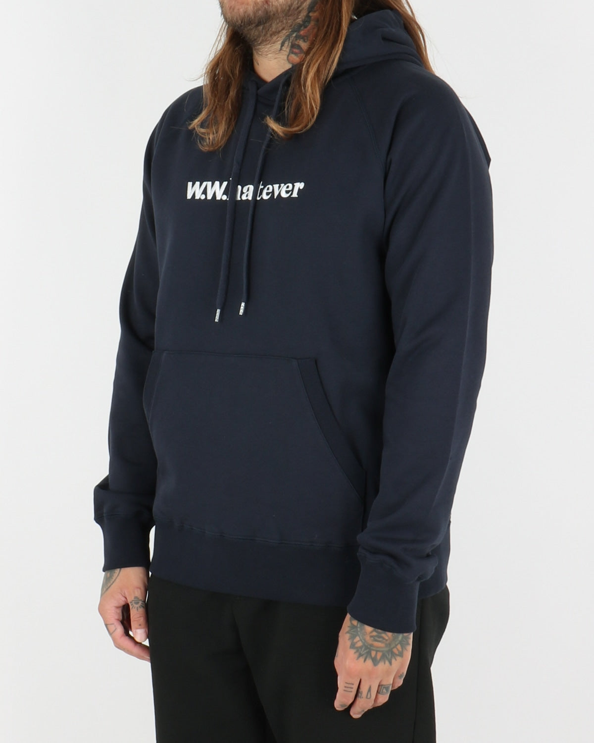 wood wood_fred hoodie_navy_view_2_3