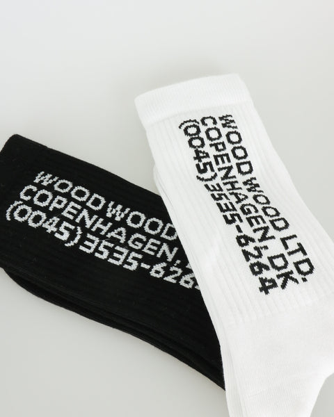 wood wood_gail 2 pack socks_white black_3_3
