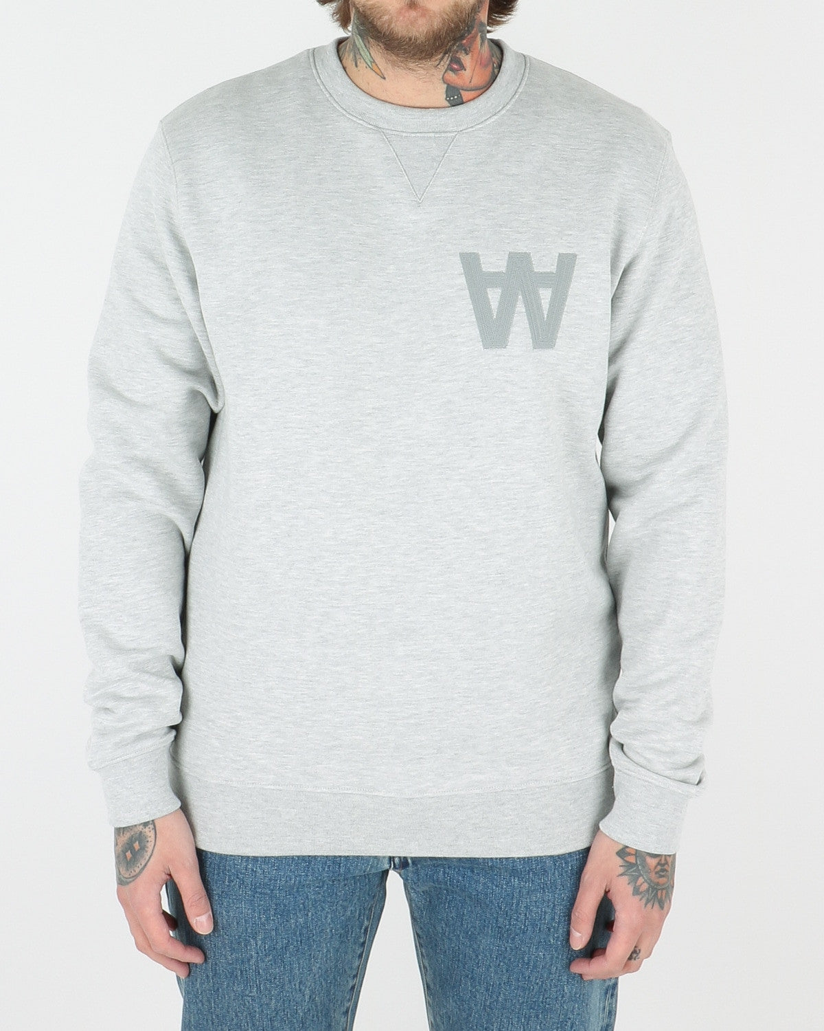 wood wood_houston sweatshirt_grey melange_view_1_3