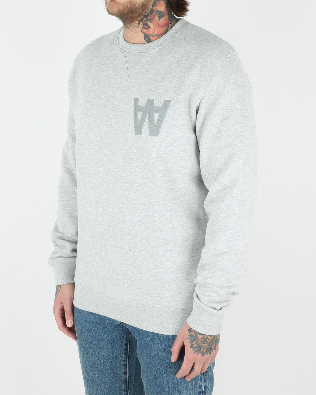 wood wood_houston sweatshirt_grey melange_view_2_3