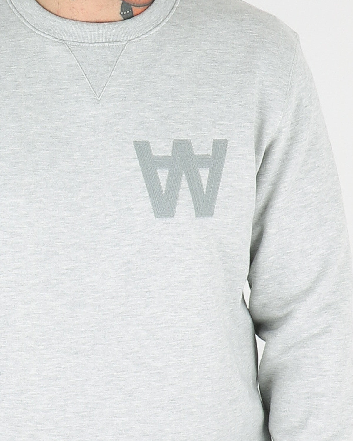 wood wood_houston sweatshirt_grey melange_view_3_3