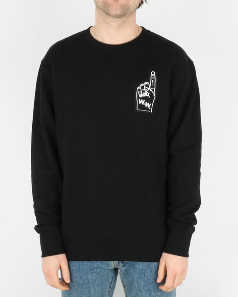 wood wood_hugh sweatshirt_black_1_3
