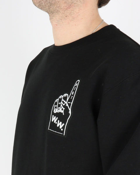 wood wood_hugh sweatshirt_black_3_3