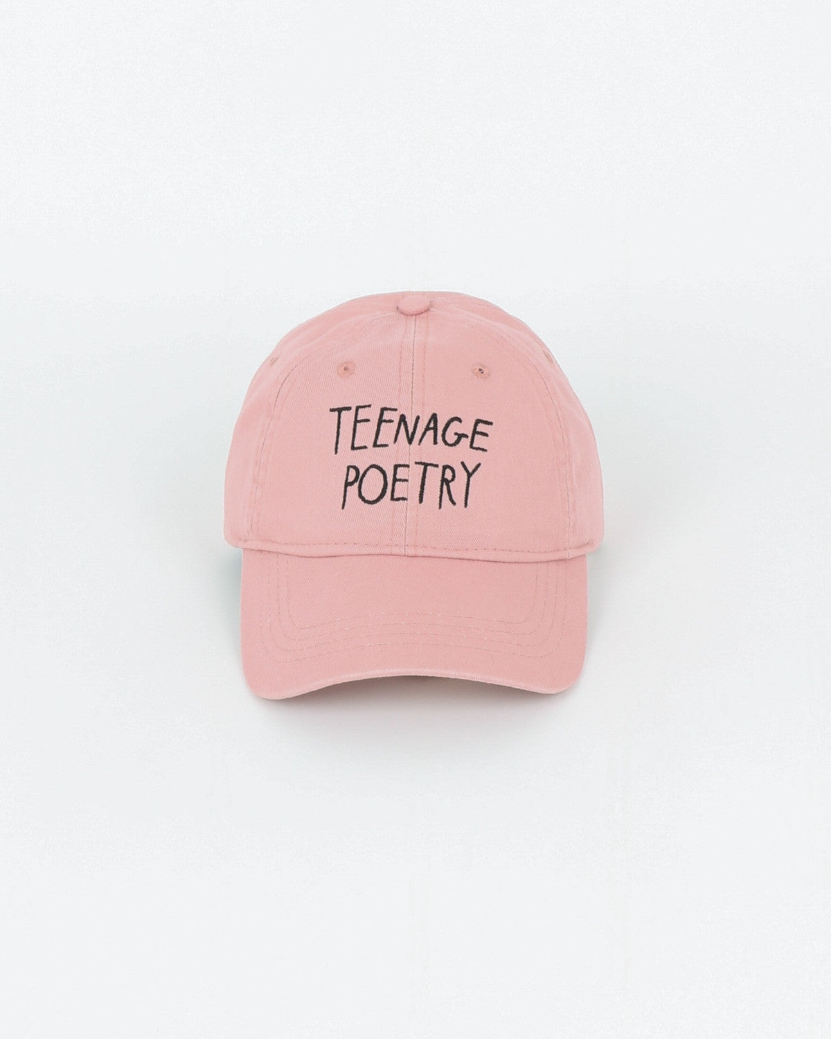 wood wood_low profile cap_teenage poetry_peach beige_view_1_2