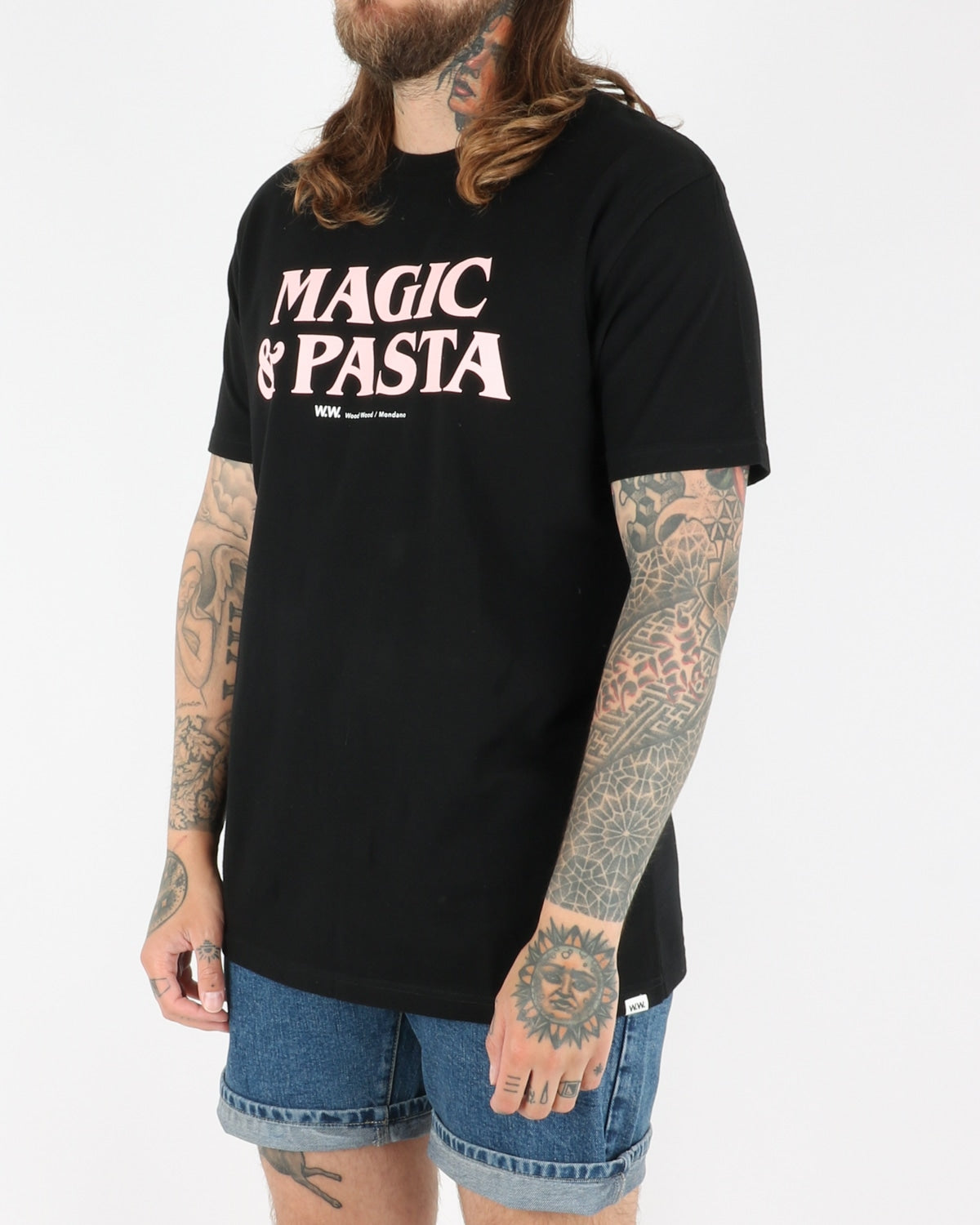wood wood_magic & pasta t-shirt_black_2_3