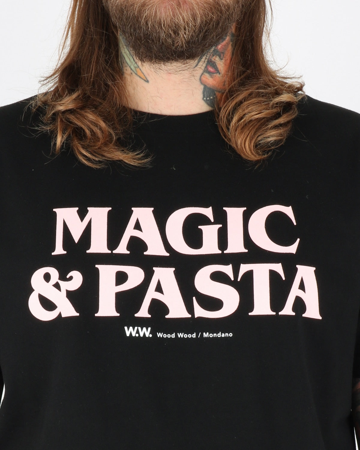 wood wood_magic & pasta t-shirt_black_3_3