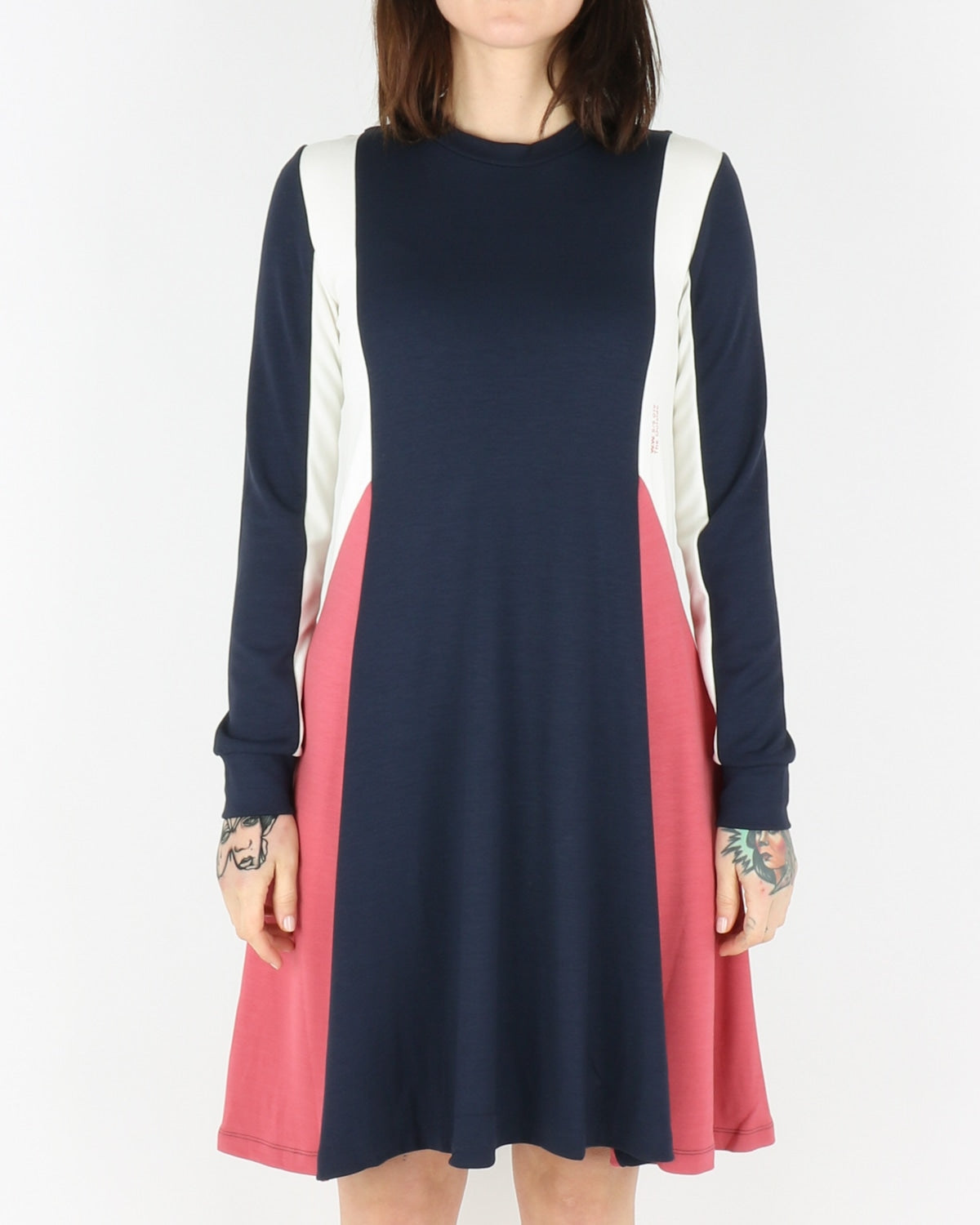 wood wood_mandy dress_navy colorblock_view_1_4