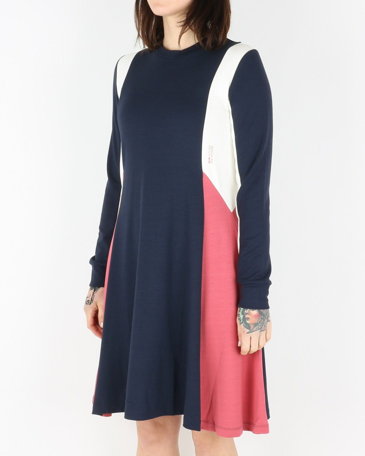 wood wood_mandy dress_navy colorblock_view_2_4