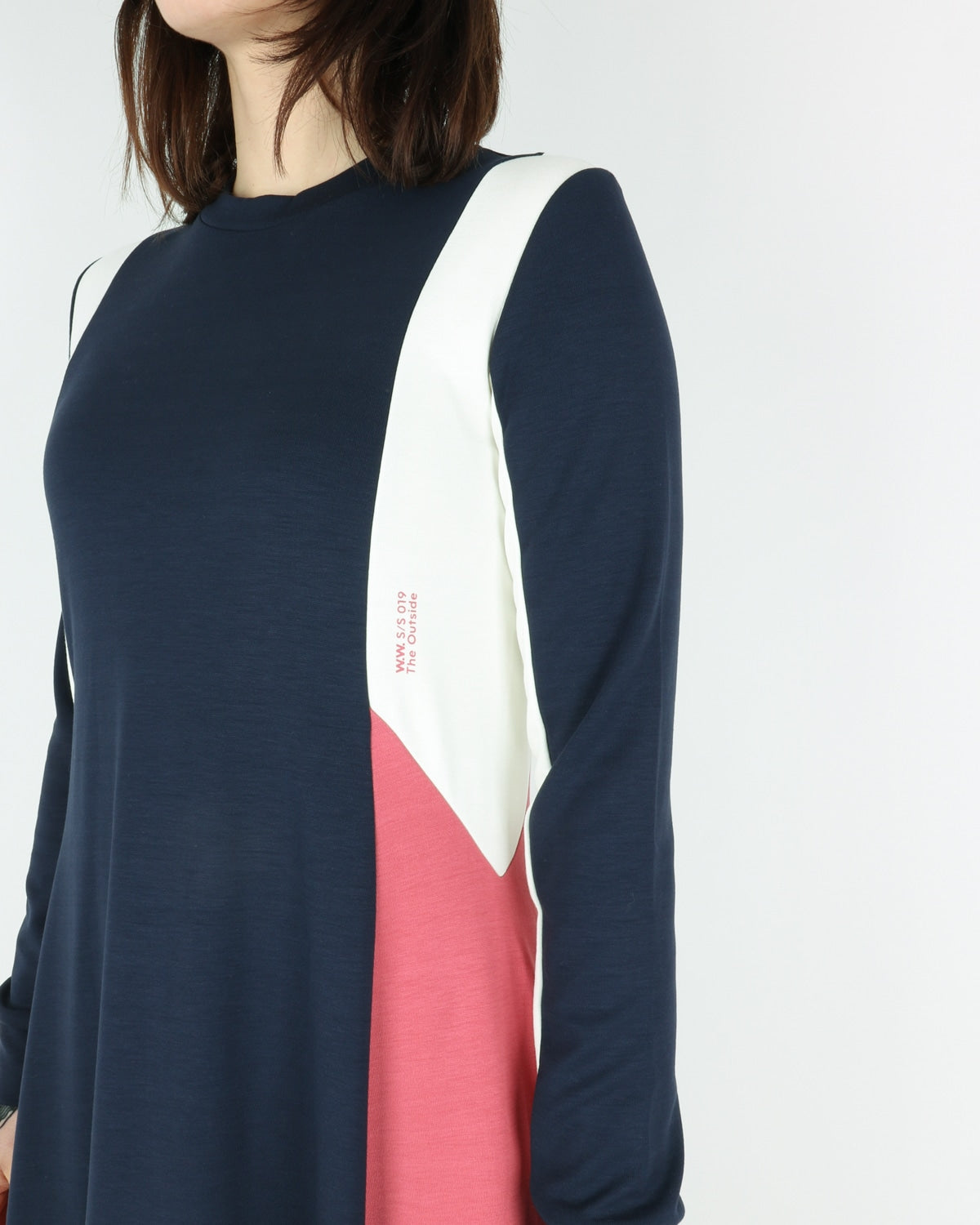 wood wood_mandy dress_navy colorblock_view_3_4