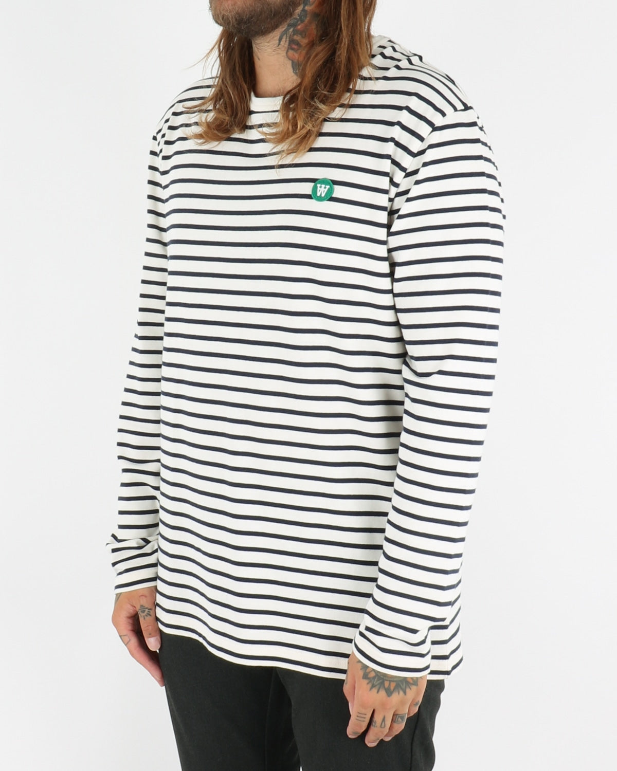 wood wood_mel longsleeve_offwhite navy stripes_view_2_3