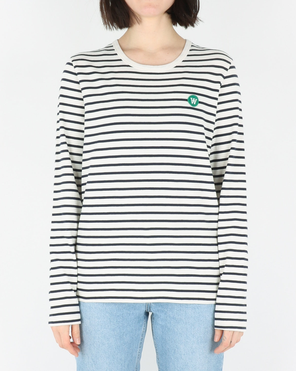 wood wood_moa longsleeve_offwhite navy stripes_view_1_3