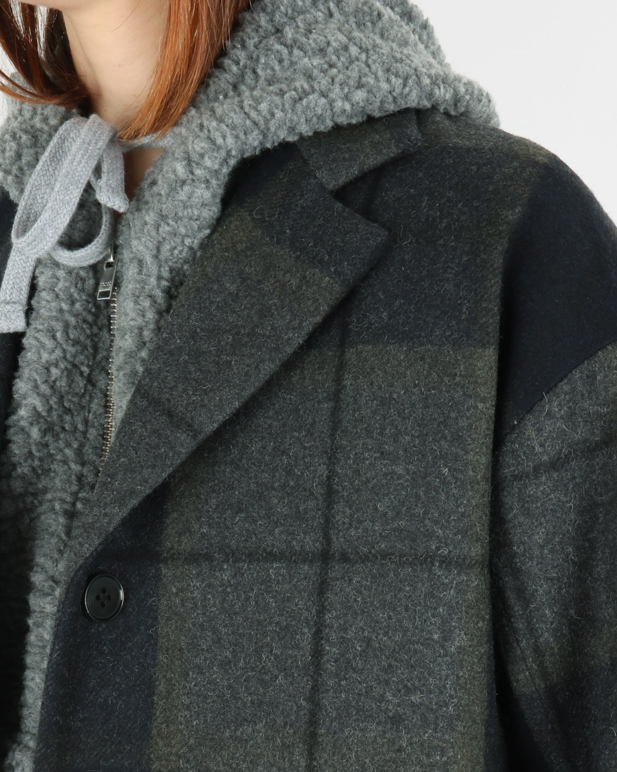 wood wood_molly coat_grey check_view_2_3