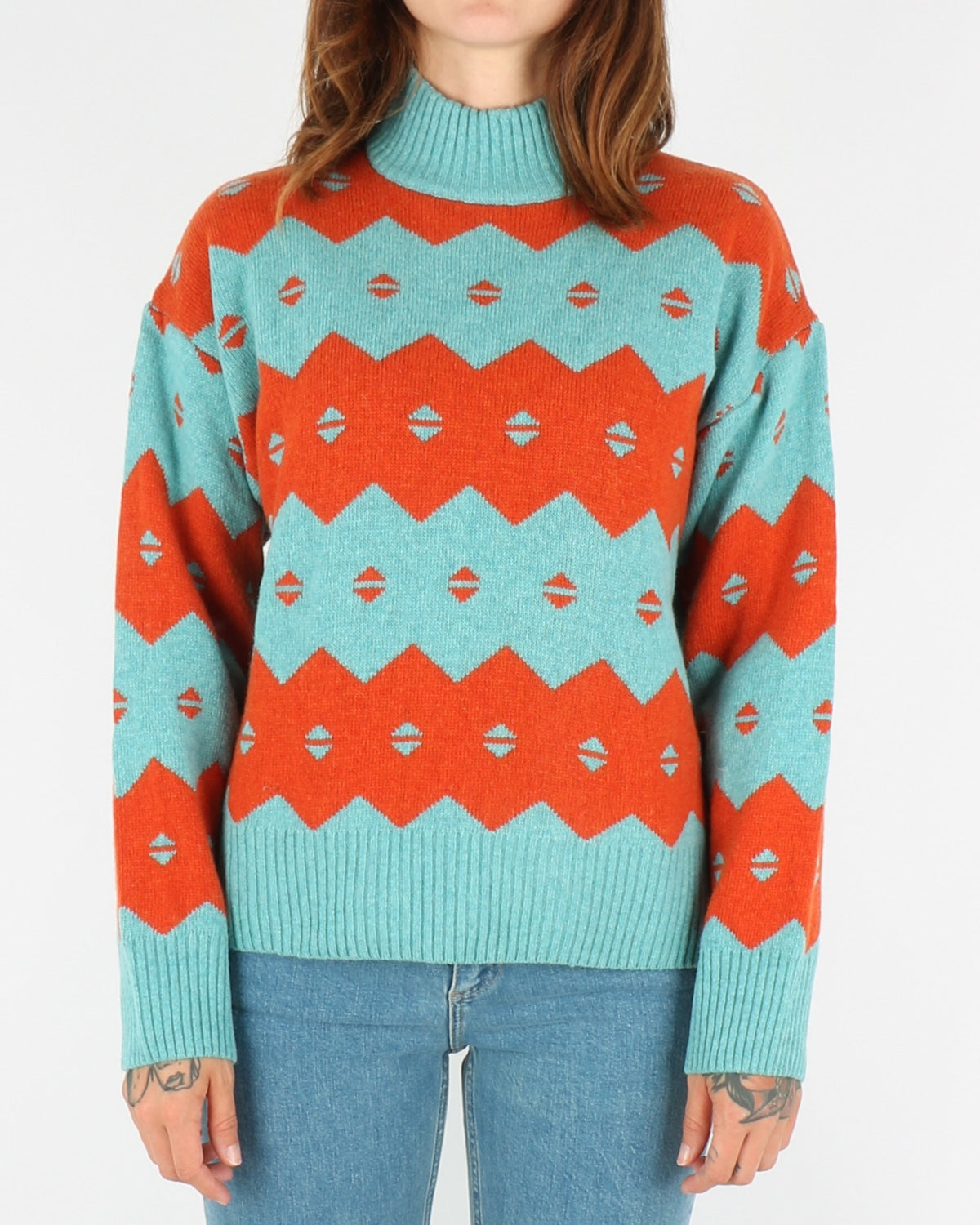 wood wood_sonia sweater_turquoise jaquard_1_4