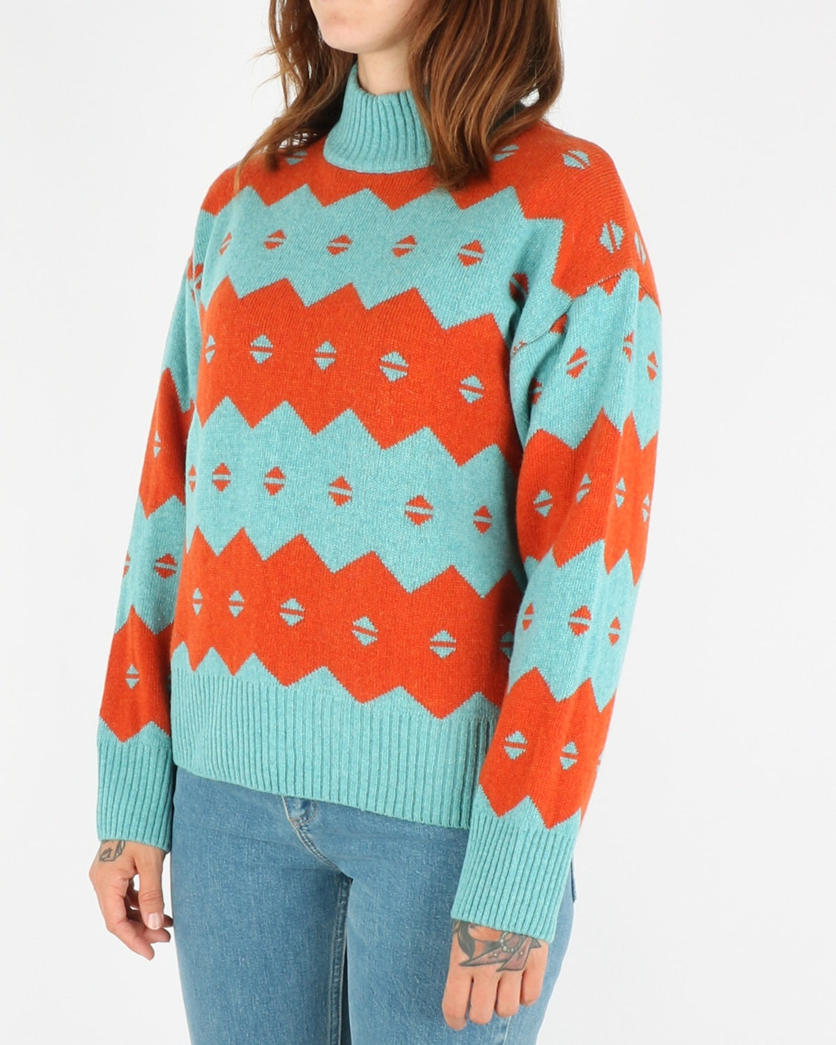 wood wood_sonia sweater_turquoise jaquard_2_4