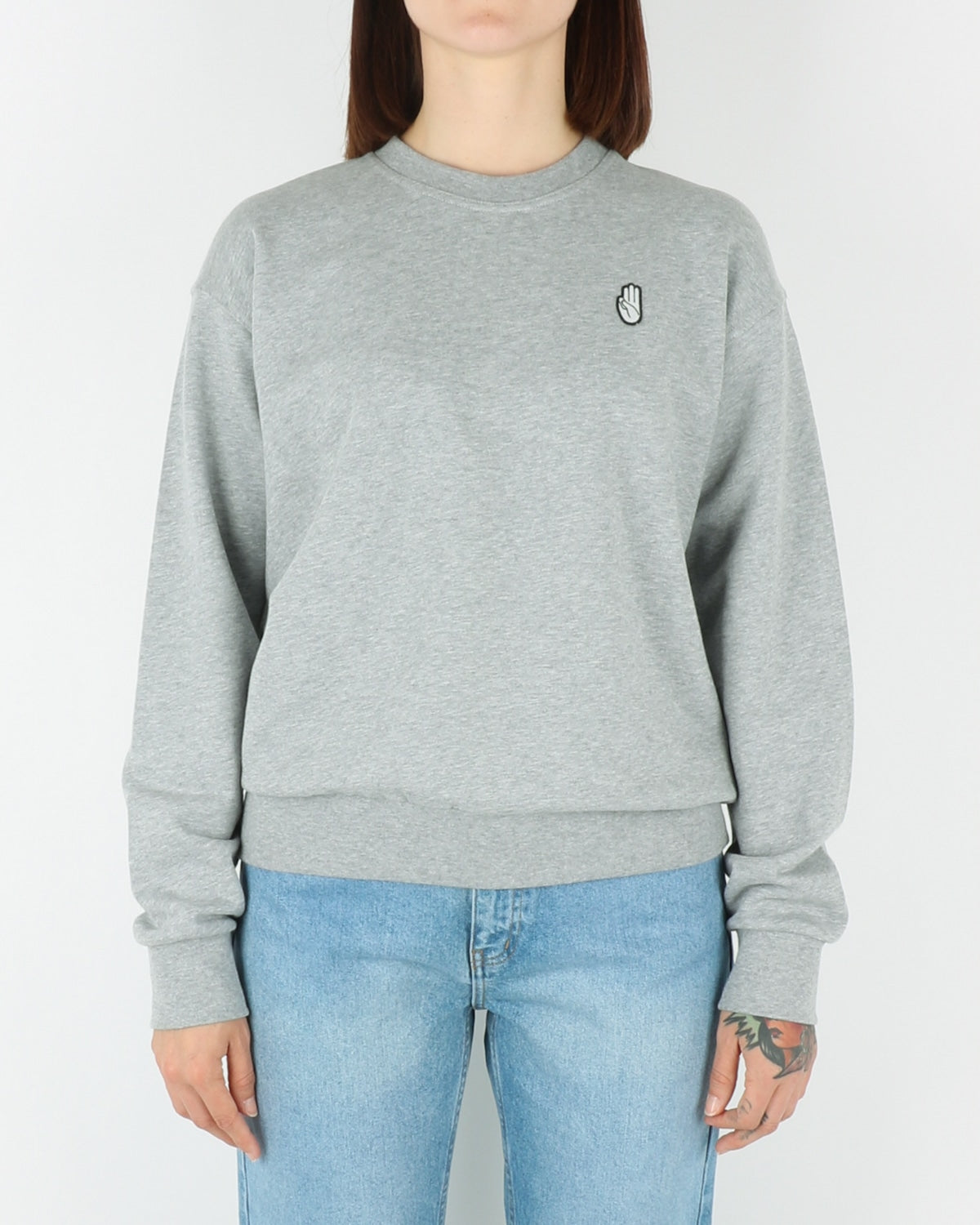 wood wood_tara_sweatshirt_grey melange_view_1_3