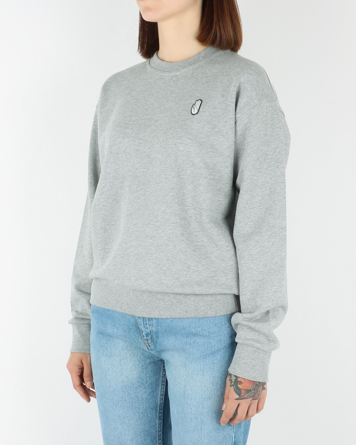 wood wood_tara_sweatshirt_grey melange_view_2_3