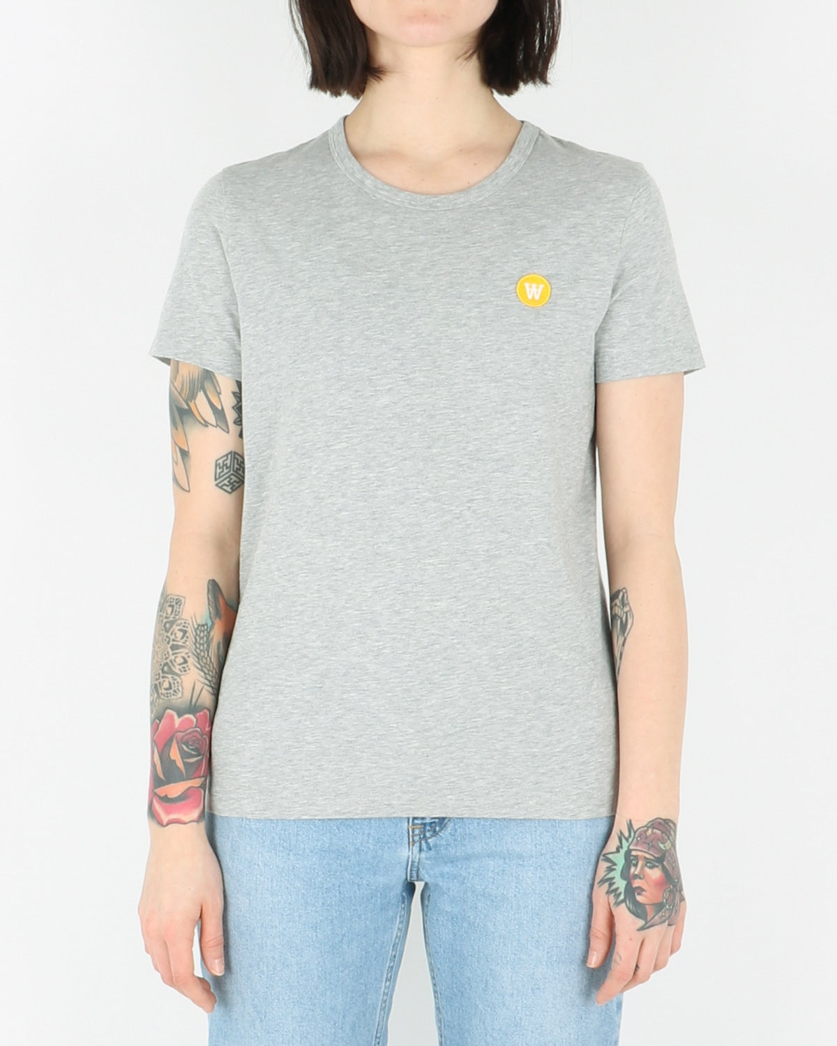 wood wood_uma t-shirt_grey melange_view_1_3