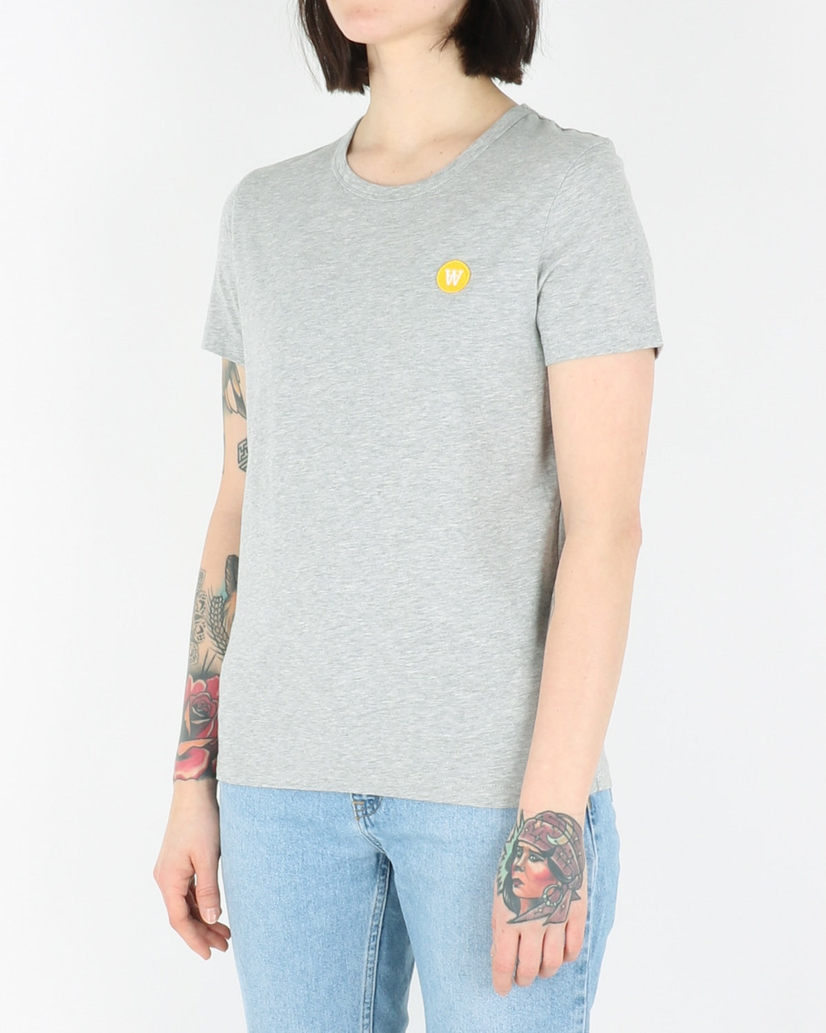 wood wood_uma t-shirt_grey melange_view_2_3