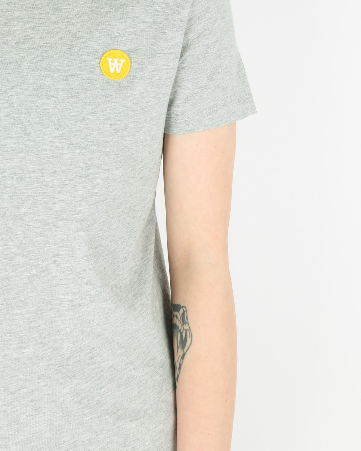 wood wood_uma t-shirt_grey melange_view_3_3