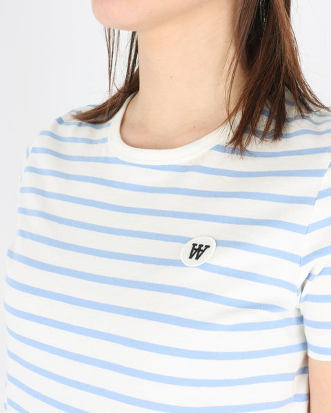 Uma T-Shirt, off-white/blue stripes