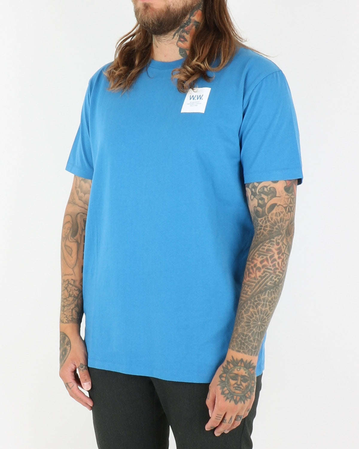 wood wood_ww box t-shirt_bright blue_view_2_3