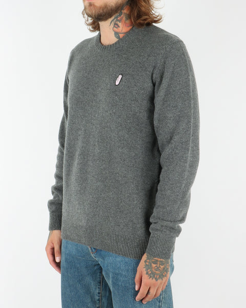 wood wood_yale sweater_grey melange_view_2_3
