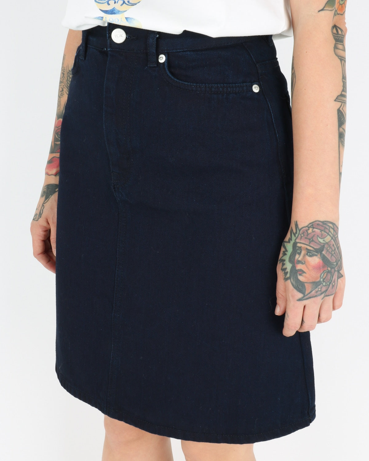 wood wood_ynes skirt_dark rinse_5_5