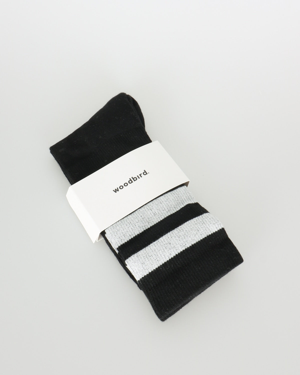woodbird_tennis socks_black white_1_2