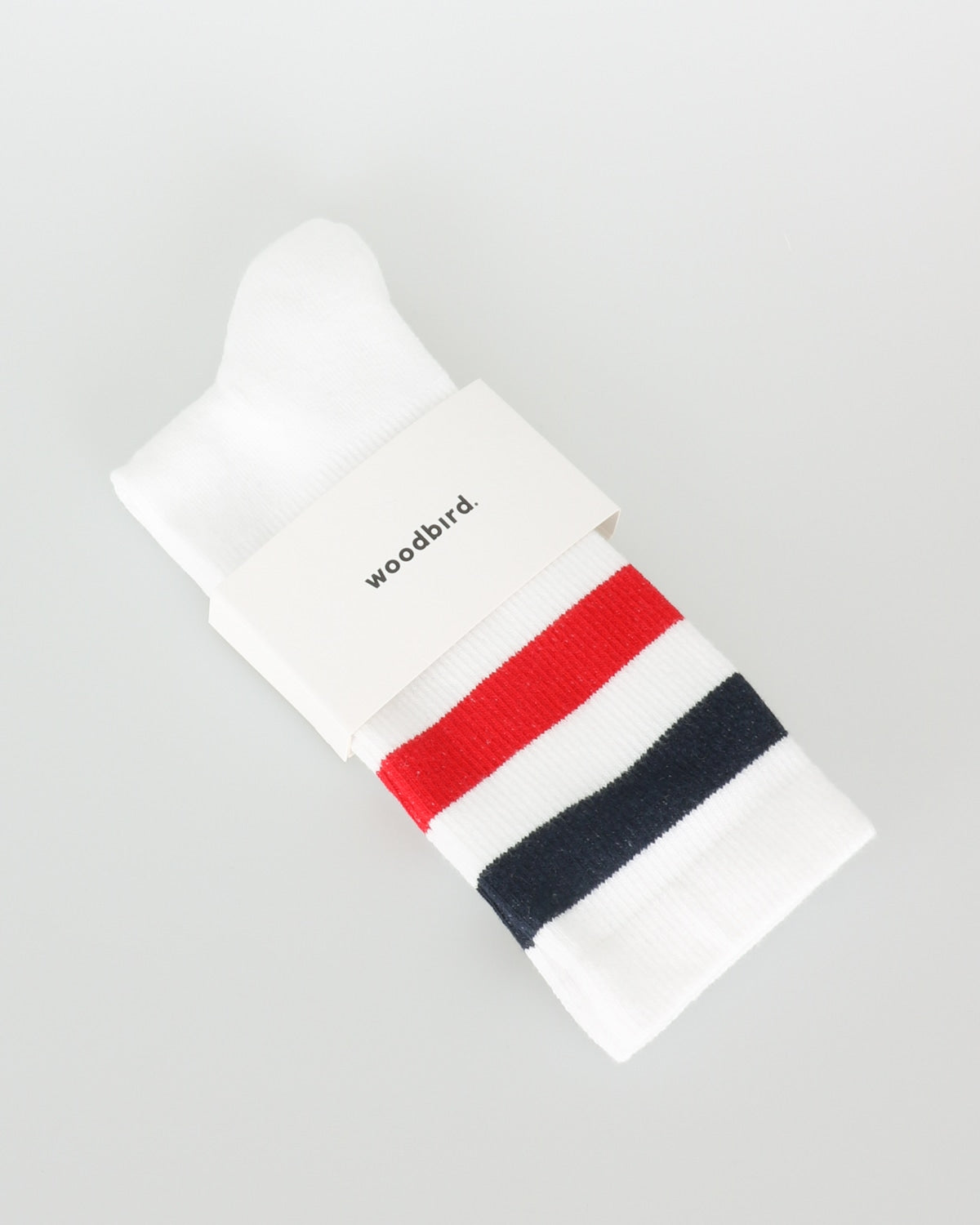 woodbird_tennis socks_white navy red navy_1_2
