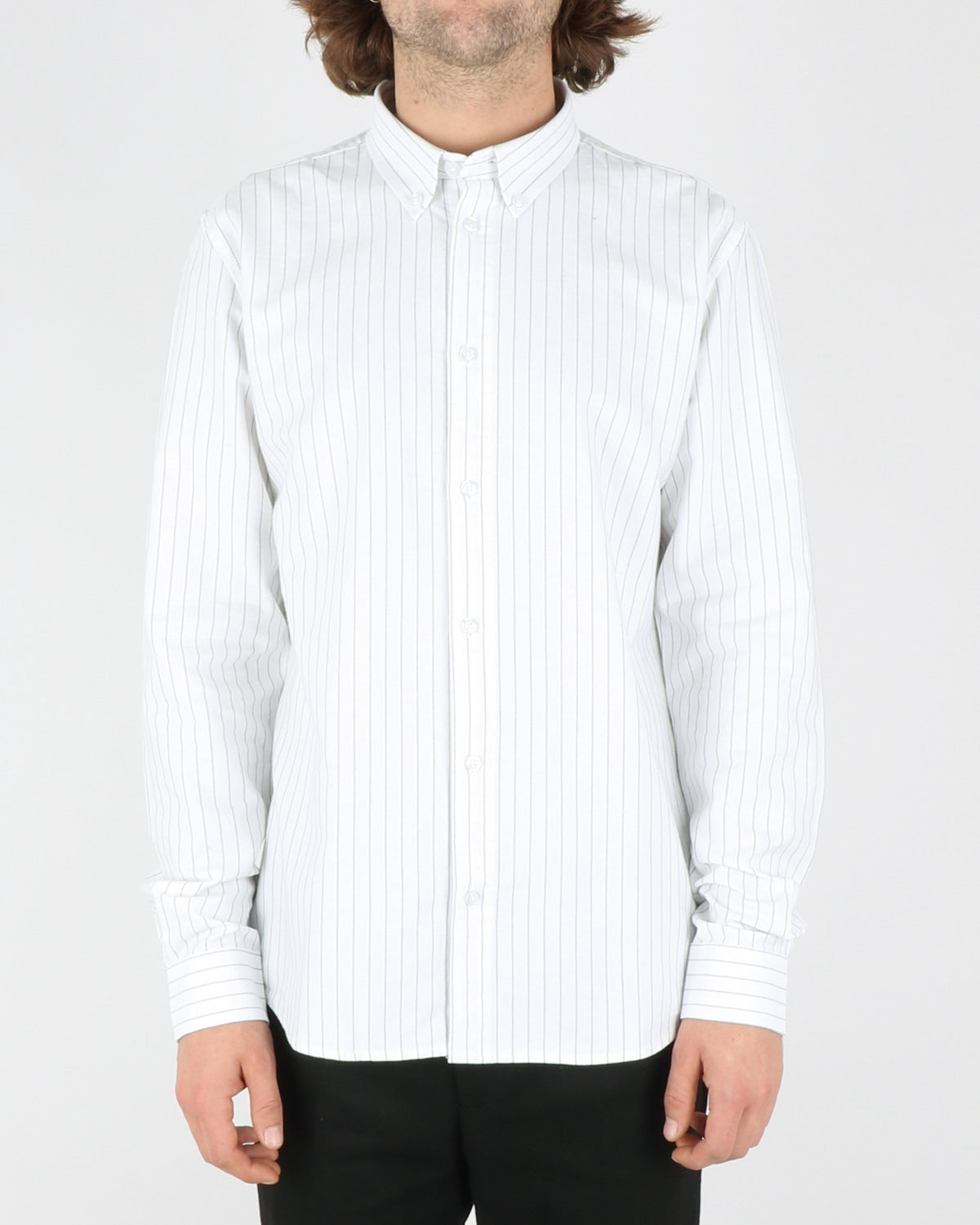 woodbird_trime stripe shirt_white grey_1_4