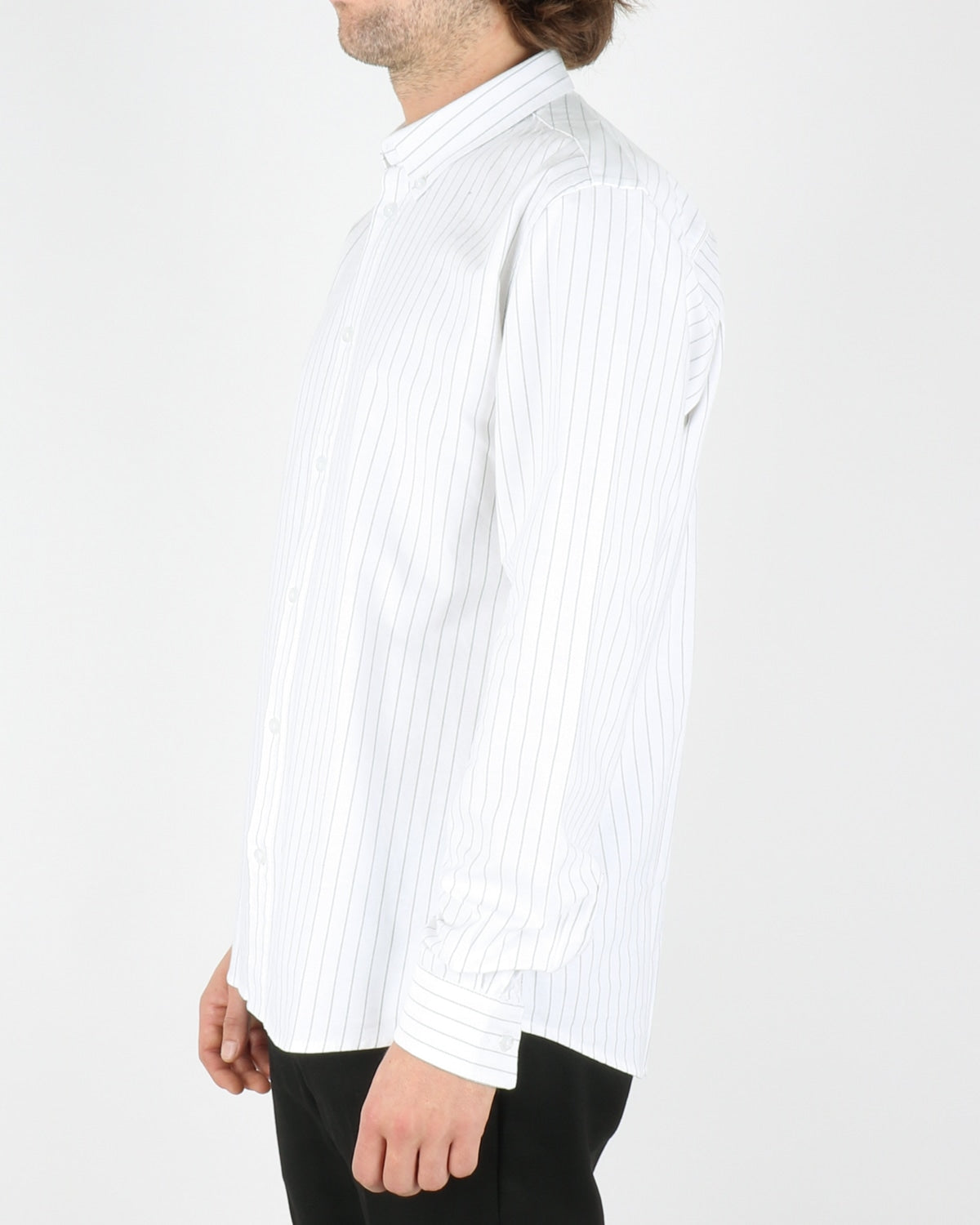 woodbird_trime stripe shirt_white grey_2_4