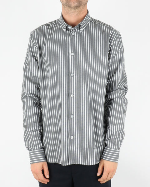 woodbird_trime stripe shirt_grey white_1_3