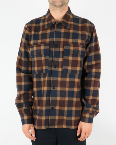 wood wood_franco shirt_navy check_1_4