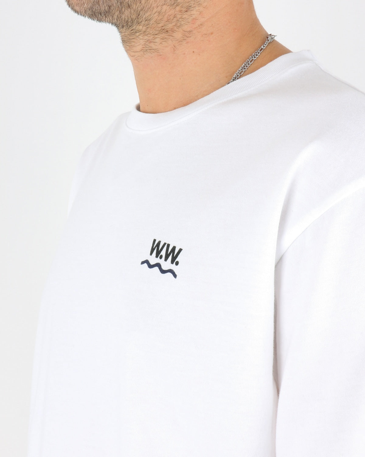 wood wood_wave t-shirt_bright white_3_4