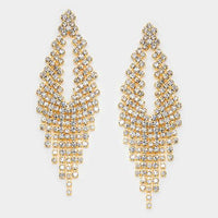 Gold Clear Crystal Earrings