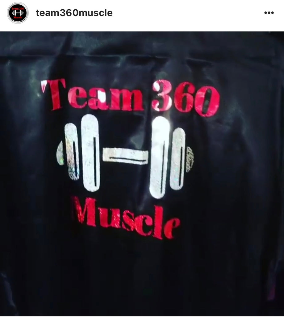 """ Team 360 Muscle Robe "" Use Code: 360BLING to get 20% off Team Price $30.00"