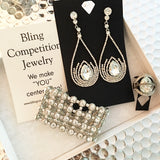 """ Clearly "" Clear Crystal Rhinestone Earrings on Silver Tone"